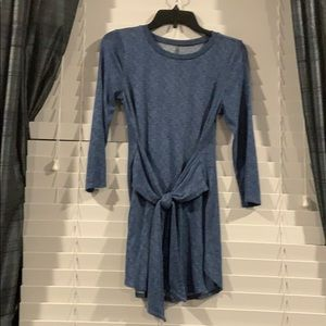 Maurice's 24/7 Blue Marled Tunic Tie Front XS